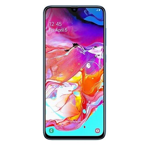 Смартфон Samsung Galaxy A70 синий (SM-A705FZBMSER) смартфон samsung galaxy s8 sm g950f 64gb жёлтый топаз
