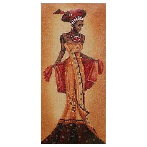 Купить Lanarte Набор для вышивания Африканский мотив 20 х 40 см (0008096-PN), Наборы для вышивания
