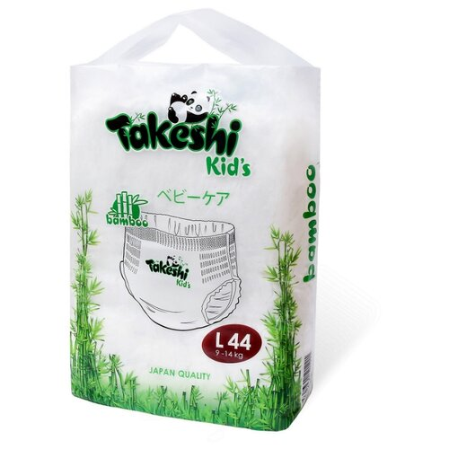 Takeshi трусики бамбуковые Kid's L (9-14 кг) 44 шт.