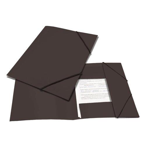 BRAUBERG Папка на резинках Contract A4 черная папка brauberg a4 390x315x120mm black 223082