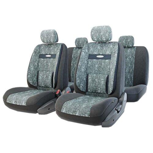 Комплект чехлов AUTOPROFI COM-1105 черный/серый набор ортопедических авточехлов autoprofi comfort велюр цвет черный темно серый 11 предметов размер m com 1105 bk d gy m
