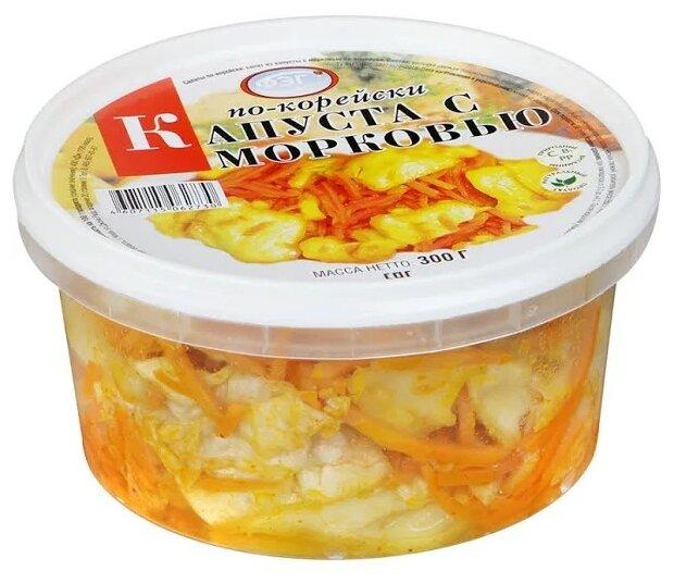 ФЭГ Салат Капуста с морковью по-корейски, 300 г