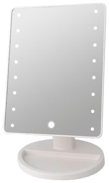 Купить Зеркало косметическое настольное PLANTA PLM-0101 Holliwood с подсветкой белый по низкой цене с доставкой из Яндекс.Маркета (бывший Беру)