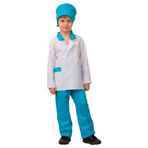 Купить Костюм Батик Врач (5707), белый/голубой, размер 128, Карнавальные костюмы