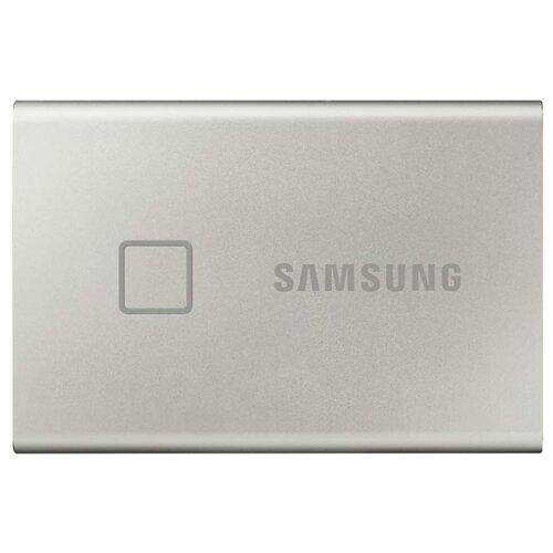 Фото - Внешний SSD Samsung Portable SSD T7 Touch 500 ГБ серебристый внешний ssd seagate one touch 500 гб камуфляж зеленый