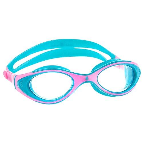 маска для плавания madwave junior flame mask цвет розовый Очки для плавания MAD WAVE Automatic Junior Flame pink/blue