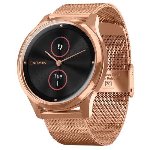 Часы Garmin Vivomove Luxe с миланским браслетом золотистый умные часы garmin vivomove 3 черные с черным силиконовым ремешком