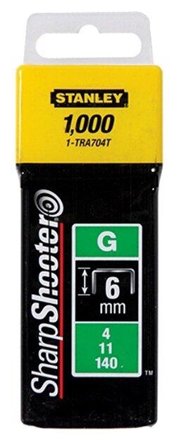 Скобы STANLEY 1-TRA704T тип 57 для степлера, 6 мм