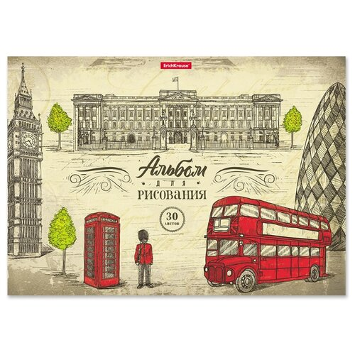 Купить Альбом ErichKrause Great Britain 29.7 х 21 см (A4), 120 г/м², 30 л., Альбомы для рисования