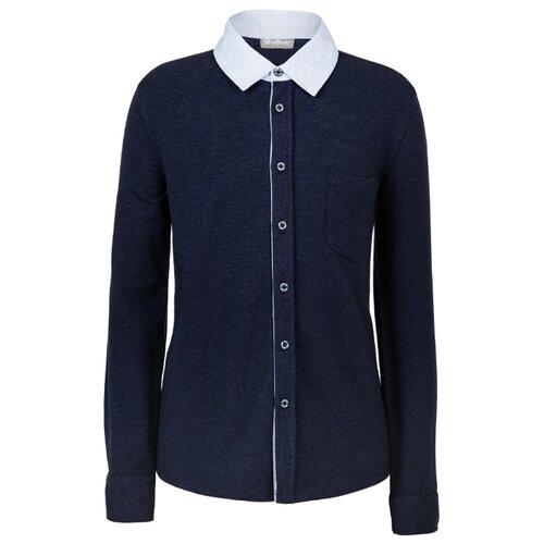 Рубашка Gulliver размер 122, синий блуза gulliver gulliver gu015egfobt0