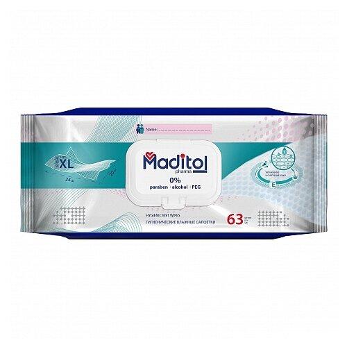 Влажные салфетки Maditol гигиенические, 63 шт.