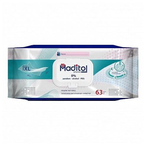 Влажные салфетки Maditol гигиенические 63 шт.