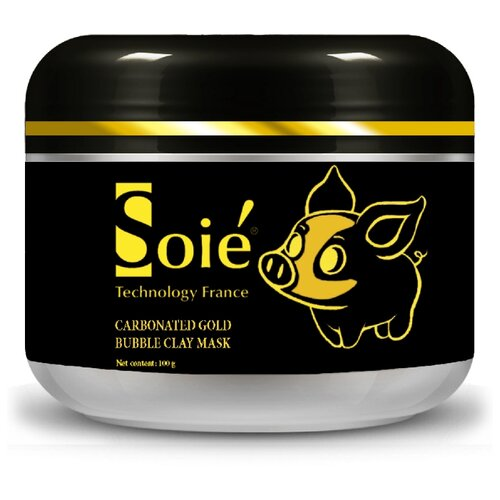 SOIE Нежно-золотая очищающая пузырьковая маска Carbonated Gold Bubble Clay Mask, 100 мл