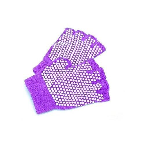 Перчатки противоскользящие для занятий йогой, цвет: фиолетовый перчатки рабочие противоскользящие brigadier extrema