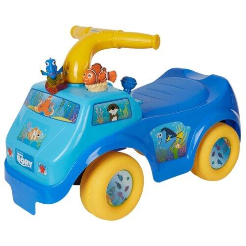Купить Каталка-толокар Kiddieland В поисках Дори (054213) со звуковыми эффектами синий/голубой/желтый, Каталки и качалки