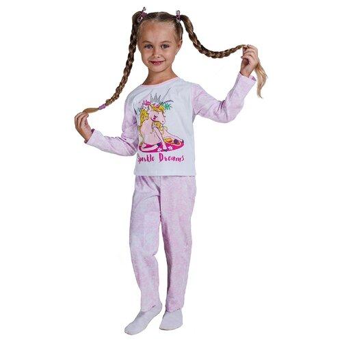 Купить Пижама Belka размер 98, белый/розовый, Домашняя одежда