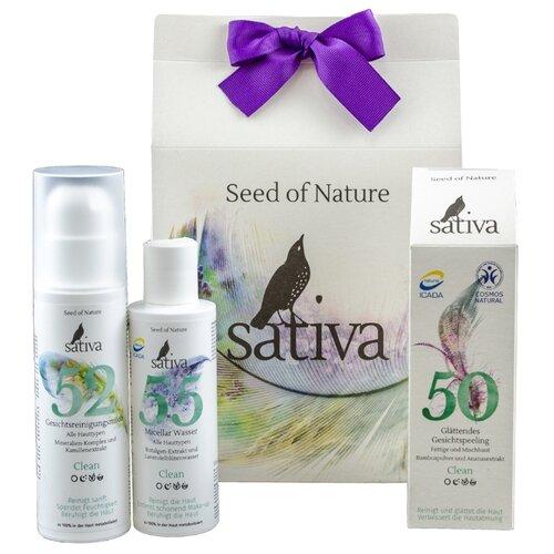 Набор Sativa Глубокое очищение глубокое очищение три актив 3в1 125мл vichy normaderm