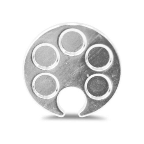 Купить Patrisa Nail Кольцо-палитра для разведения красок серебристый