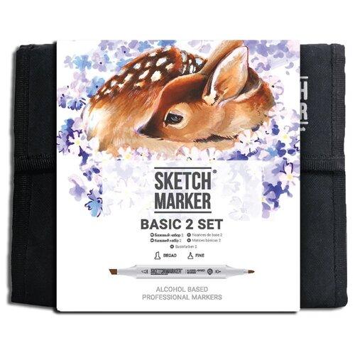 Купить SketchMarker Набор маркеров Basic Set 2, 36 шт., Фломастеры