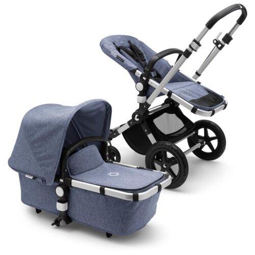 Универсальная коляска Bugaboo Cameleon3 Plus (2 в 1) Alu/Blue Melange/Blue Melange, цвет шасси: серебристый