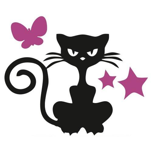 Наклейка на выключатель DS Studio Кошка Бука, объемная