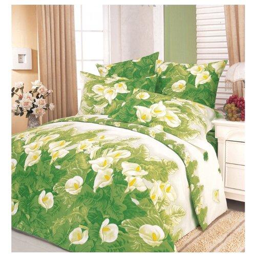 Постельное белье 2-спальное СайлиД A-34, поплин зеленый постельное белье сирень постельное белье 2 спальное кпб сайлид