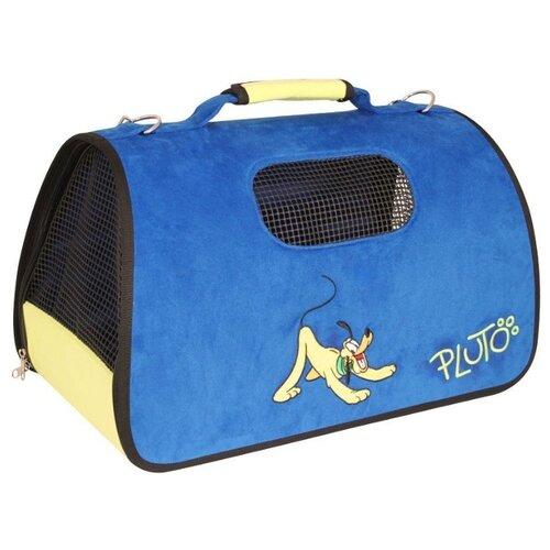 Сумка-переноска для собак Triol Disney Pluto 50х29х28 см синий сумка переноска для собак triol лаура 46х26 5х28 см голубой серый