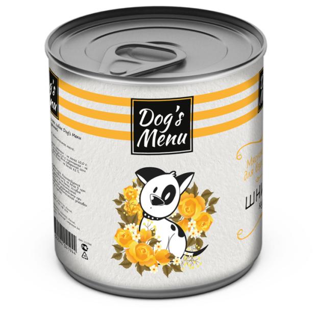 Консервы Dogs Menu Шницель куриный для собак (340 г, Курица)
