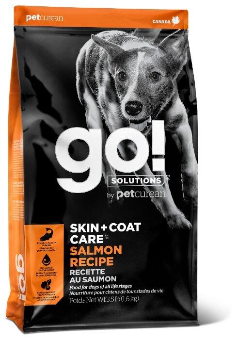 Корм для собак GO! Skin+Coat для здоровья кожи и шерсти, лосось с овощами 1.6 кг