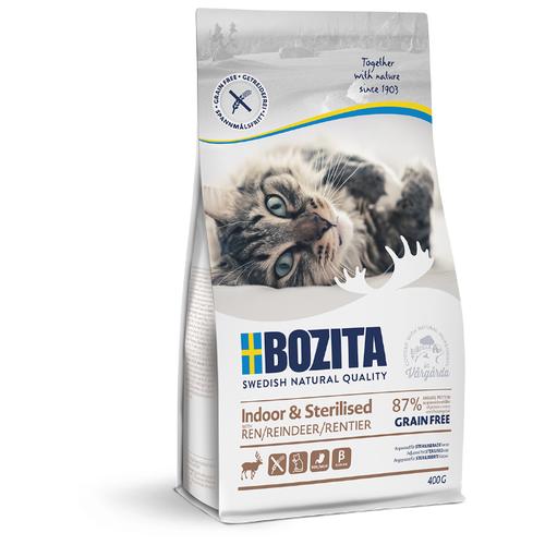 Сухой корм для стерилизованных кошек Bozita с олениной 400 г