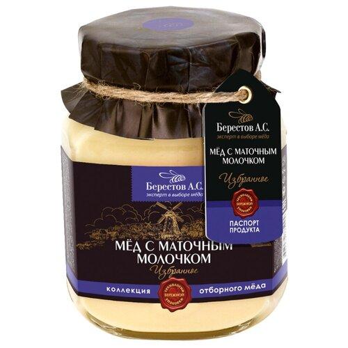Мед Берестов А.С. Избранное С маточным молочком 500 г мед натуральный берестов а с липовый лес 240г