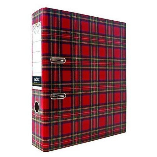 Купить Index Папка-регистратор 80 мм, ламинированная Шотландка, Файлы и папки