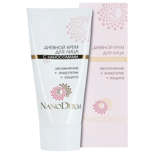 NanoDerm Крем для лица дневной с наносомами 25+ увлажнение + энергетик + защита, 50 мл nanoderm крем