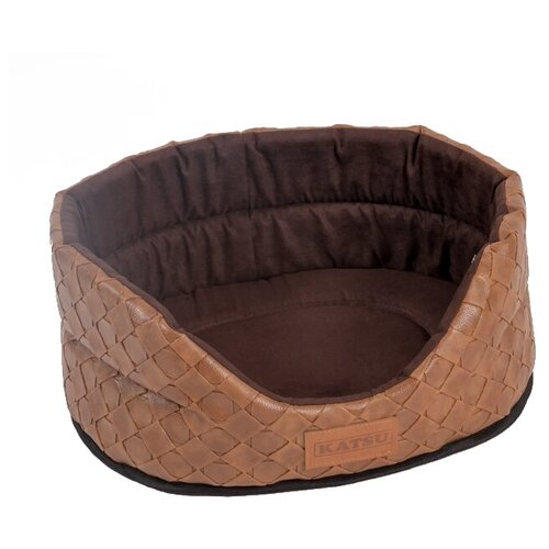 Лежак для собак и кошек Katsu Skaj L 58х52х21 см коричневый