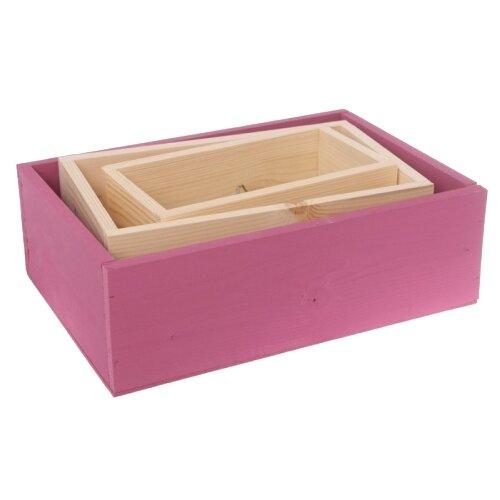 Фото - Ящик Дарите счастье набор 3 в 1 с шильдиком Счастья и теплоты бежевый/розовый бумага упаковочная дарите счастье момент счастья 0 68 × 10 м сиреневый