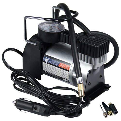Автомобильный компрессор Nova Bright АК-35 серый/черный
