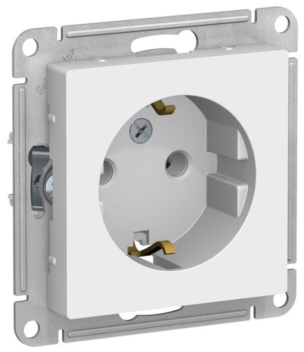 Розетка Schneider Electric AtlasDesign ATN000143,16А, с заземлением, белый