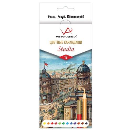 Купить Vista-Artista Карандаши цветные Studio 12 цветов (VACPS-12), Цветные карандаши