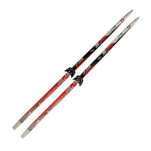 Беговые лыжи STC Sable Snowway с креплениями красный/серый 200 см