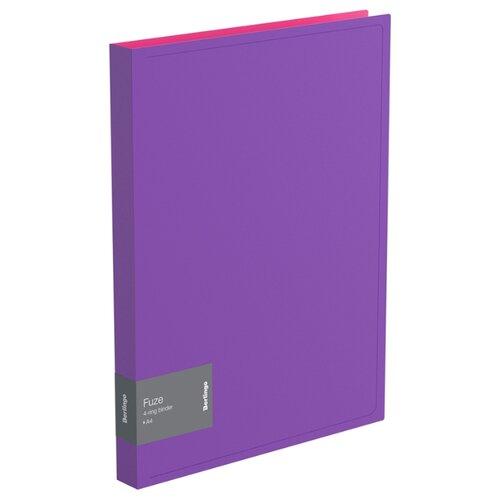 Купить Berlingo Папка на 4-х кольцах Fuze А4, 25 мм, 600 мкм, пластик фиолетовый, Файлы и папки