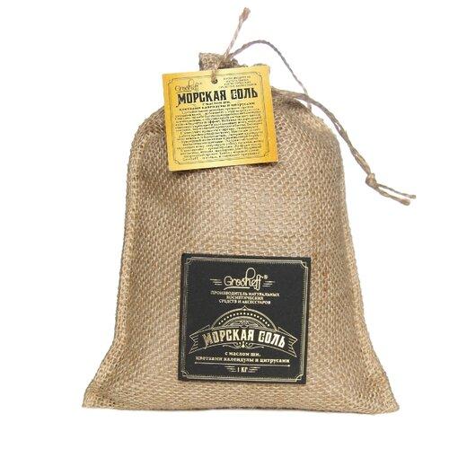Grosheff Морская соль с маслом ши, цветками календулы и цитрусами, 1 кг