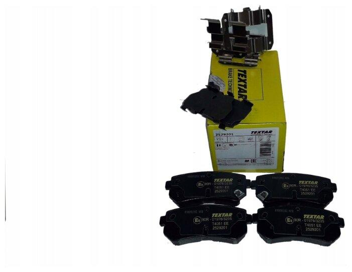 Дисковые тормозные колодки задние Textar 2529201 для Hyundai, Kia (4 шт.)