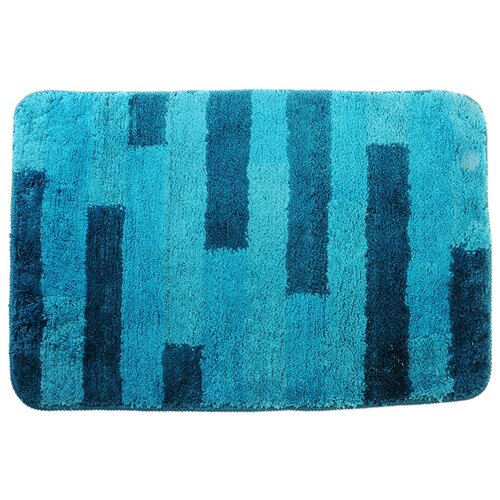 Коврик SonWelle Полоска, 50х75 см синий