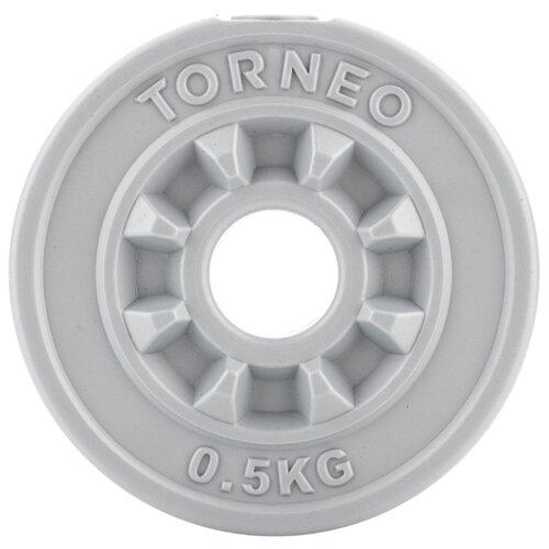 Диск Torneo в пластиковом корпусе 0.5 кг (1008-5) серый