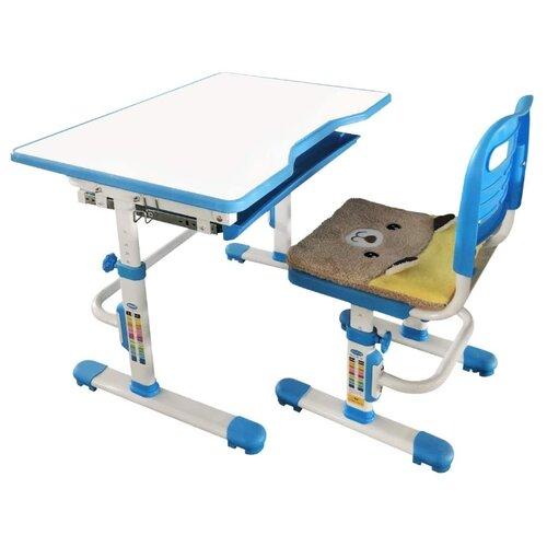 Комплект RIFFORMA стол + стул SET-10 80x55 см голубой