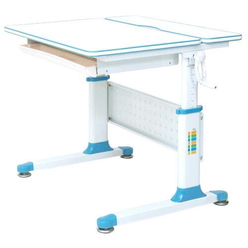 Стол RIFFORMA Comfort-80 80x70 см белый/голубой