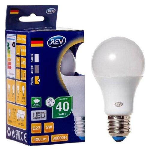 Фото - Лампа светодиодная REV 32344 0, E27, A60, 5Вт лампа светодиодная led e27 8 5вт 220v 2700к rev