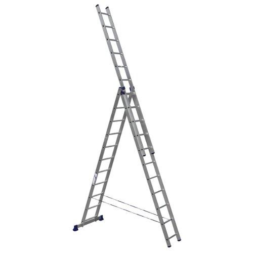 Лестница телескопическая 3-секционная HITT H4311 лестница телескопическая biber 98208