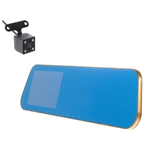 Видеорегистратор Torso 3009076, 2 камеры черный/золотистый
