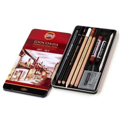 Купить KOH-I-NOOR Набор художественных принадлежностей Gioconda 10 предметов (8890000001PL), Наборы для рисования
